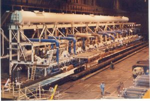 JM Series Operating Laminar Flow Headers Over a Hot Mill Run Out Table