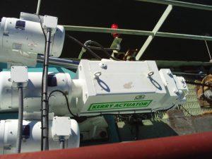 Kerry QHLA Units Controlling Trim/List/Skew on a Commercial Cargo Crane