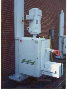 Q Series Moving Large Flood Control Gates at a Pumping Station